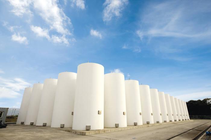 월성 원전 사용후핵연료 건식저장시설.