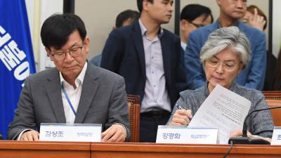 고위당정청 참석한 강경화 외교부 장관