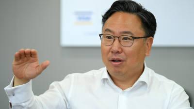 """패트릭 윤 비자코리아 사장 """"한국에 비자 이노베이션 스테이션 설립"""""""