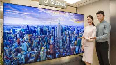 판 커지는 8K TV, 올해 패널 출하량 9배나 급증 전망