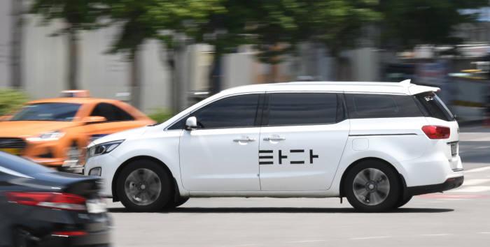 타다 차량.(사진=김동욱기자 gphoto@etnews.com)