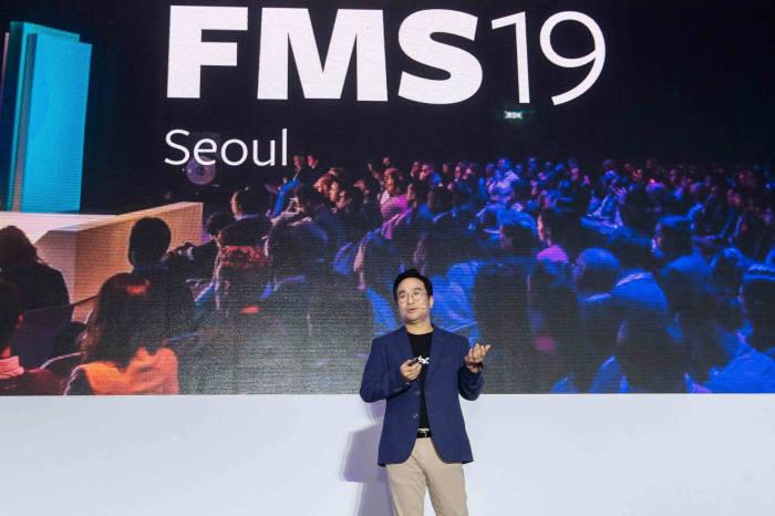 정기현 페이스북코리아 대표가 FMS에서 기조연설하고 있다. 사진=페이스북