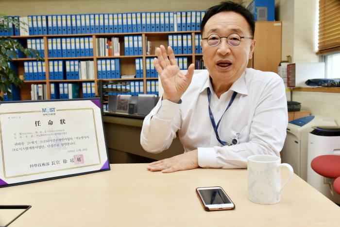 """[데스크가 만났습니다]박종오 한국마이크로의료로봇연구원장 """"광주에 세계 최고 마이크로로봇연구소 설립 목표"""""""