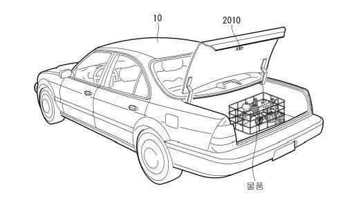 LG전자 차량용 냉장고 특허 도안 중 일부 <출처 : 특허청>