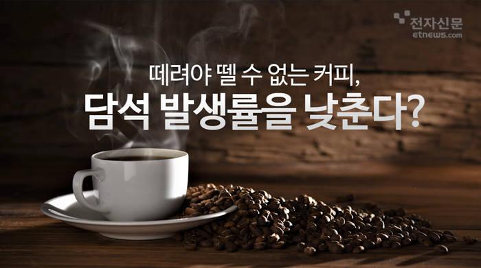 [모션그래픽]떼려야 뗄 수 없는 커피, 담석 발생률을 낮춘다?