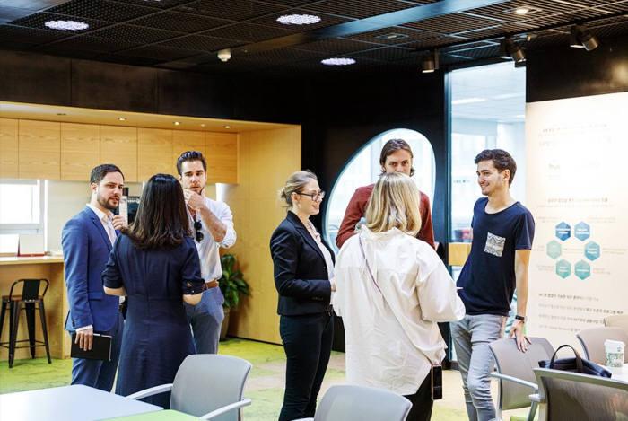 오스트리아 5개 스타트업이 SK텔레콤 트루이노베이션센터를 방문했다.