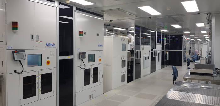 파워반도체 상용화센터 가공 장비.