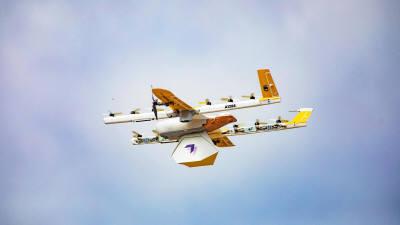 구글 윙, 미국 상공 날았다
