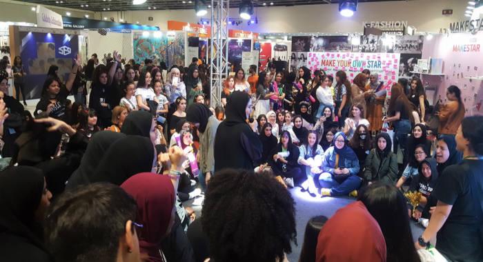 두바이 월드트레이드센터에서 열린 2019한류박람회에서 한류 퀴즈 이벤트가 진행되고 있다