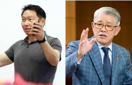 최태원 SK그룹 회장(왼쪽), 최신원 SK네트웍스 회장. [사진= SK그룹, SK네트웍스 제공]