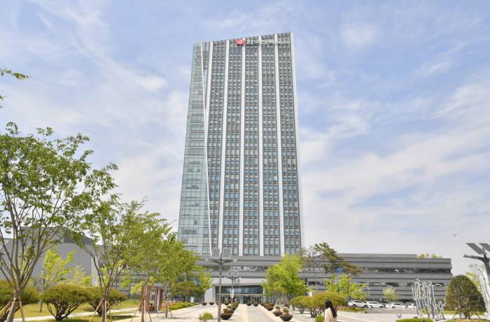 나주혁신도시에 위치한 한국전력공사 본사. 전자신문DB