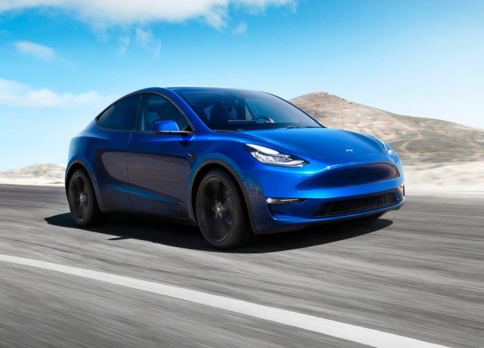 테슬라가 내년 여름 양산할 보급형 전기 SUV 모델Y.