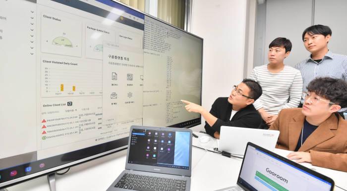 내년 1월 마이크로소프트(MS) 윈도7 무상지원 종료를 앞두고 한글과컴퓨터가 개방형OS 구름OS 고도화에 나섰다. 박지호기자 jihopress@etnews.com