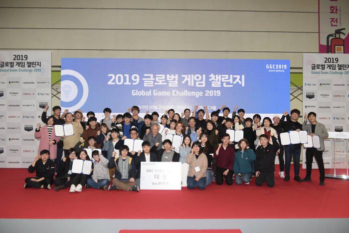 글로벌게임챌린지2019 시상식…영광의 얼굴들