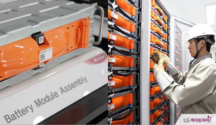 LG화학 익산공장에 설치된 에너지저장장치(ESS) 설비. (사진=LG화학 공식블로그)