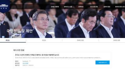 청와대 국민청원, 2년 2개월간 '정치개혁' 청원이 가장 많아