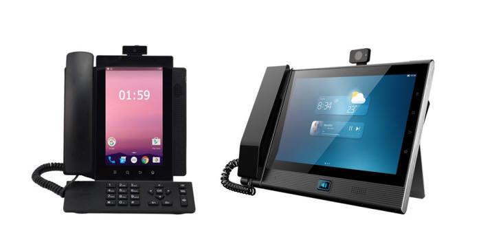 씨토크커뮤니케이션즈가 4세대(4G) 이동통신기반 영상스크린폰 SVP2000을 신규 출시했다. 왼쪽부터 7인치 세로형, 10인치 가로형 제품 모습.