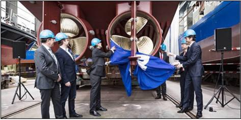 3D프린팅 기술로 만들어 선급인증을 받은 선박용 프로펠러.