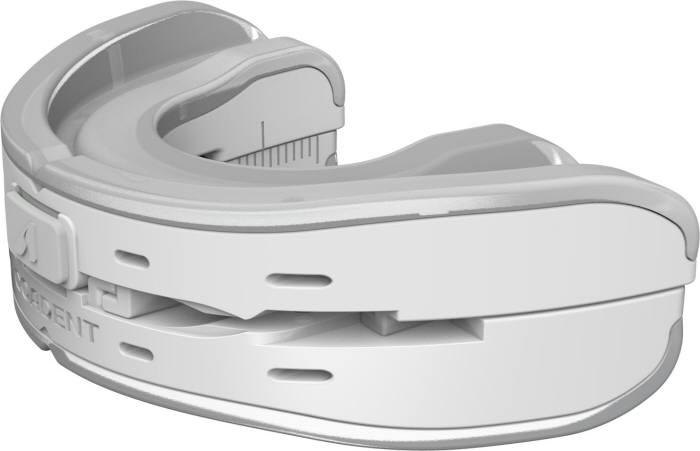 두코가 11일 23시 50분 NS홈쇼핑 코어덴트 홈쇼핑을 통해 첫 선을 보이는 하악 전진량 조절 자가 맞춤형 구강내장치 코어덴트(COADENT) 제품 모습.
