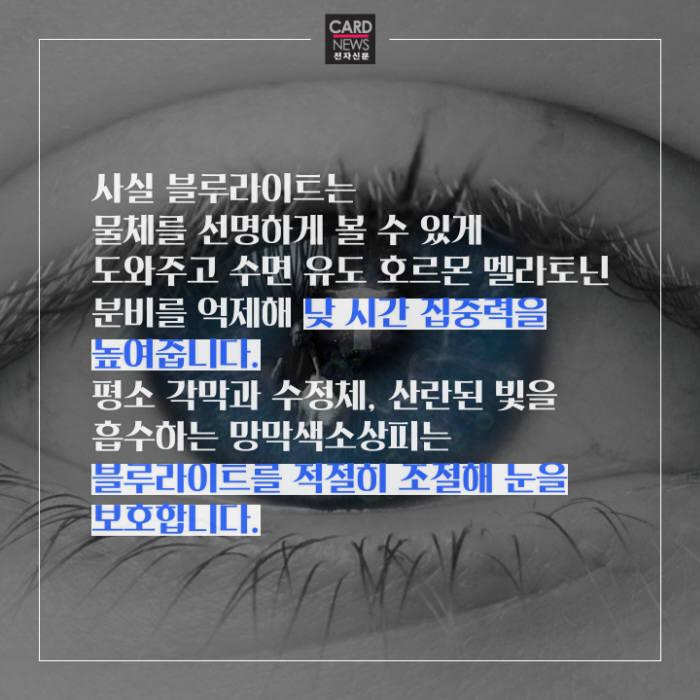 [카드뉴스]눈 앞의 블루라이트, 눈 건강엔 '빨간불'