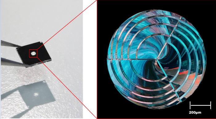 KAIST가 기술 개발에 활용한 회절광학소자(DOE) 예시 모습