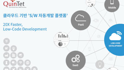 {htmlspecialchars(퀸텟시스템즈, 'SW 자동개발 플랫폼' 앞세워 클라우드 사업 강화)}