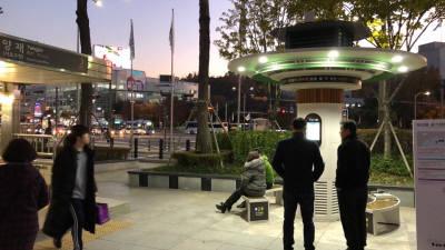 엔쓰컴퍼니, 옥외형 미세먼지 저감 솔루션 개발…양재역 설치 호응