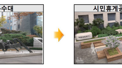 예금보험공사 앞 분수대, 시민 쉼터로 개방