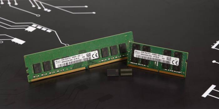 SK하이닉스가 개발한 3세대 10나노급(1z) DDR4 D램. <사진=SK하이닉스>