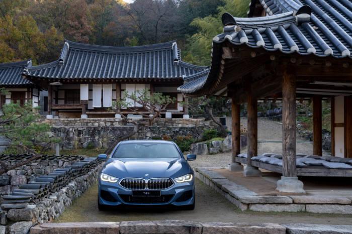 BMW 뉴 8시리즈 전면.