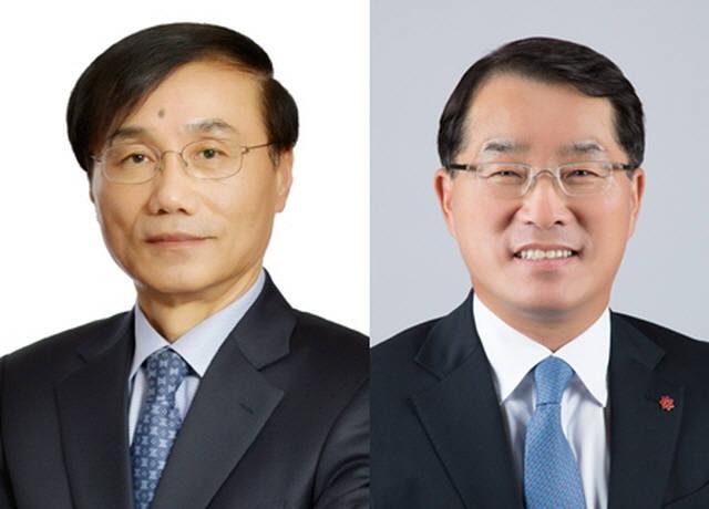 차정호 신세계 대표이사 사장(왼쪽), 장재영 신세계인터내셔날 대표이사 사장