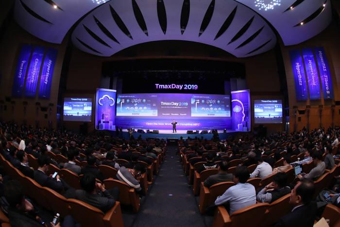 서울 삼성동 코엑스 오디토리움에서 티맥스데이 2019 기조연설이 열리고 있다. 티맥스 제공