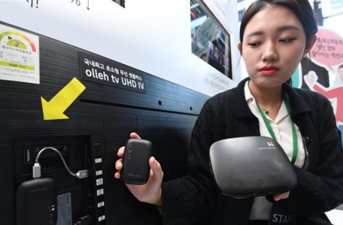이노피아테크가 KT에 납품하는 초소형 무선 셋톱박스(M770)