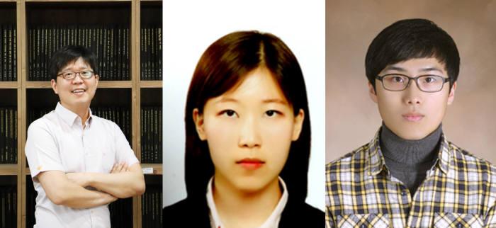 광스핀홀 효과를 최초로 구현한 연구팀. 왼쪽부터 노준석 교수, 박사과정 김민경 씨, 이다솔 씨.