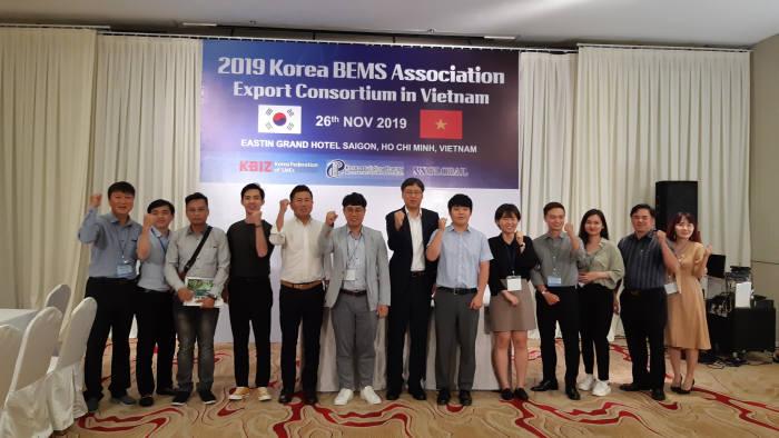 한국BEMS협회가 베트남 현지에서 에너지효율화 수출컨소시엄 구성 행사를 개최했다.