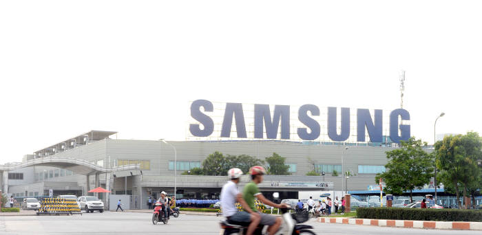 삼성 스마트폰 절반 가량을 생산하는 삼성 베트남 공장 전경<사진=전자신문DB>
