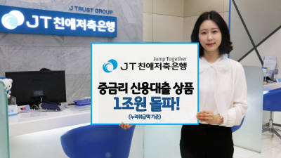 JT친애저축銀, 11월 기준 중금리 대출 누적액 1조원 돌파