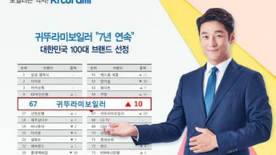 귀뚜라미, 브랜드스탁 '2019년 대한민국 100대 브랜드' 7년 연속 선정