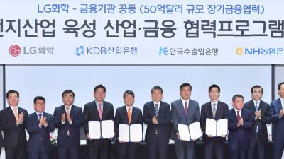 LG화학-금융기관 공동 2차전지산업 육성 산업·금융 협력프로그램 협약식