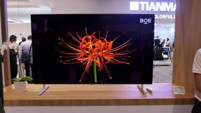 中 BOE, 잉크젯 방식 8K OLED TV 패널 시연…기술력은 '글쎄'