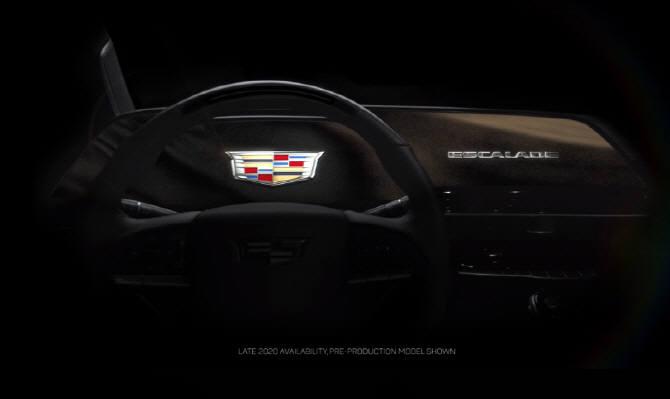 캐딜락 신형 에스컬레이드에 장착된 38인치 커브드 OLED. (사진=캐딜락)