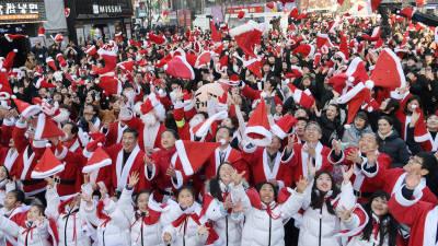 산타로 변신한 장관들...'2019 몰래 산타' 출범식