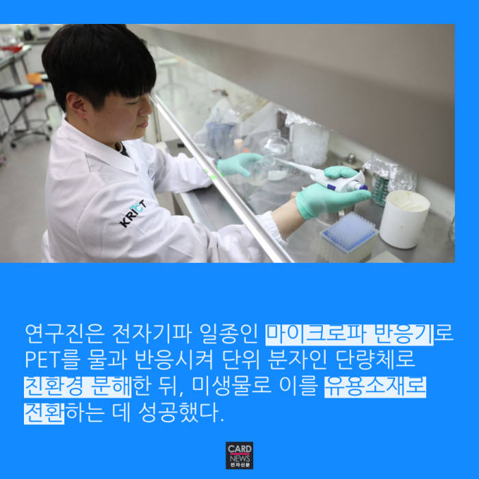 [카드뉴스]지구 괴롭히던 페트병, 藥 된다고?