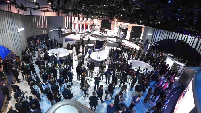 CES 2020 7일(현지시간) 개막일 현대차 부슨 전경.