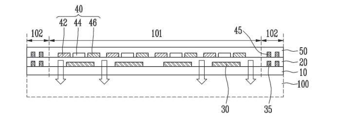 삼성디스플레이가 특허 출원한 터치 일체형 플렉시블 표시장치 도면 예시