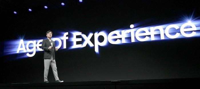 김현석 삼성전자 사장이 CES 2020 개막 기조연설에서 경험의 시대를 화두로 제시했다.