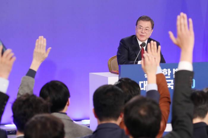 문재인 대통령 신년 기자회견. 연합뉴스