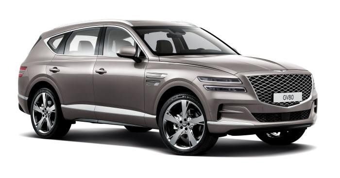 제네시스가 15일 경기도 고양시 킨텍스에서 럭셔리 플래그십 SUV GV80 공식 출시 행사를 갖고 본격적인 판매에 돌입했다.