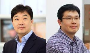 홍합 접착력이 도파와 라이신 두 접착단백질간 시너지라는 것으로 입증한 차형준 포스텍 교수(왼쪽)와 김낙균 KIST 박사.