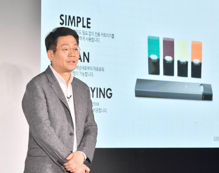 이승재 쥴 랩스 코리아 유한회사 대표가 지난해 9월 서울 성수동 어반소스에서 기자간담회를 갖고 아시아 태평양지역 최초로 한국시장에 공식 진출했다.